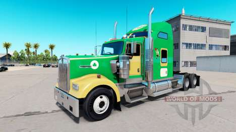 Boston Celtics de la peau pour le Kenworth W900  pour American Truck Simulator
