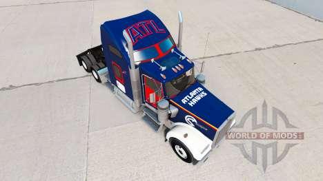 Haut-Atlanta Hawks auf die LKW-Kenworth W900 für American Truck Simulator