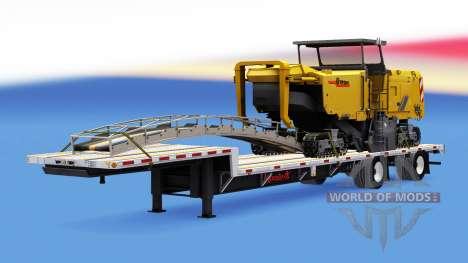 Eine Sammlung von Anhänger mit Ladung v1.1 für American Truck Simulator