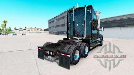 La peau Camo Rayures sur un tracteur Kenworth pour American Truck Simulator