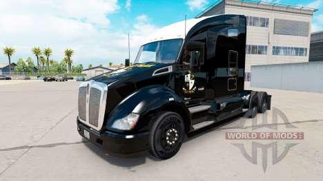 Haut schwarz Port Vale auf einem Kenworth-Zugmas für American Truck Simulator