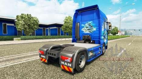 Ocean skin für MAN-LKW für Euro Truck Simulator 2