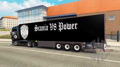 Semi-Trailer Schmitz Cargobull Scania V8 für Euro Truck Simulator 2