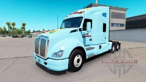 La peau, Les Simpsons sur un tracteur Kenworth pour American Truck Simulator