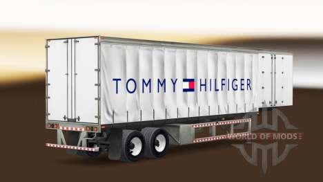 Haut Tommy Hilfiger auf einen Vorhang semi-trail für American Truck Simulator