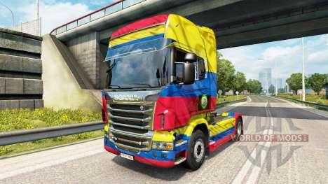 Der Kolumbien-Copa 2014 skin für Scania-LKW für Euro Truck Simulator 2
