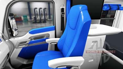 L'intérieur est Blanc et Bleu pour Kenworth T680 pour American Truck Simulator