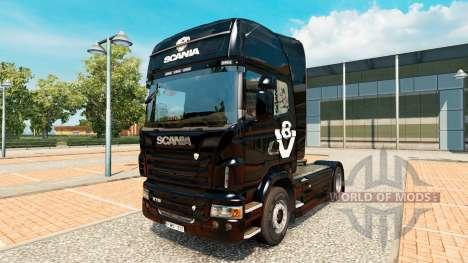 La peau Scania V8 camion Scania pour Euro Truck Simulator 2