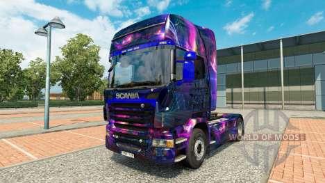 Haut-Desktop oGrafhic auf Zugmaschine Scania für Euro Truck Simulator 2