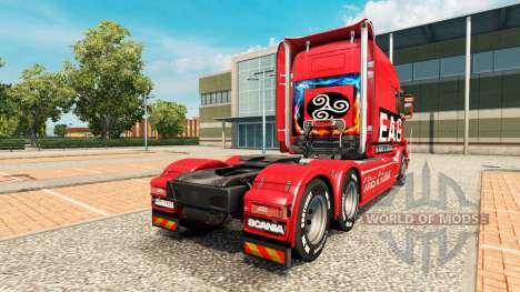 EAG peau pour camion Scania T pour Euro Truck Simulator 2
