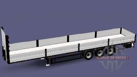 Une collection de remorques avec des charges dif pour Euro Truck Simulator 2