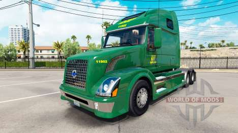 Скин ABF Freight System Inc. на Volvo VNL 670 pour American Truck Simulator