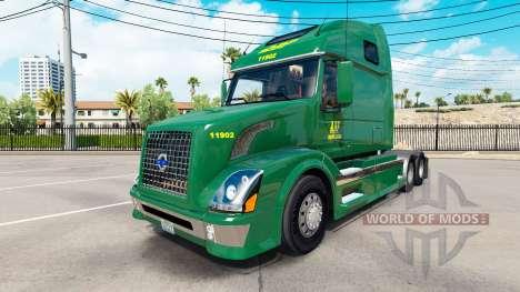 Скин ABF Freight System, Inc. на Volvo VNL 670 für American Truck Simulator