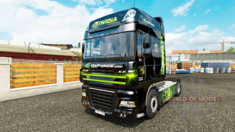 La peau Nvidia pour tracteur DAF XF 105.510 pour Euro Truck Simulator 2