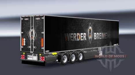 Auflieger Chereau Werder Bremen für Euro Truck Simulator 2