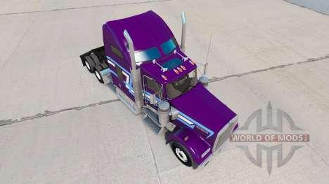 La peau Icône de Style sur le camion Kenworth W9 pour American Truck Simulator