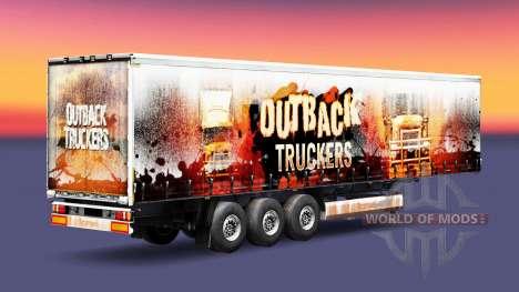 Les Routiers de l'Outback de la peau sur la remo pour Euro Truck Simulator 2