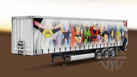 Peau de Dragon Ball sur la remorque pour Euro Truck Simulator 2