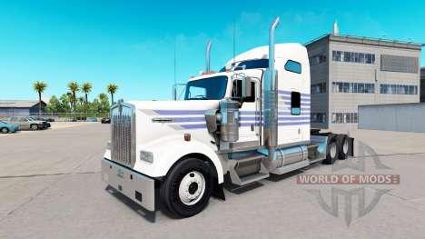 Peau Classique Rayures sur le camion Kenworth W9 pour American Truck Simulator