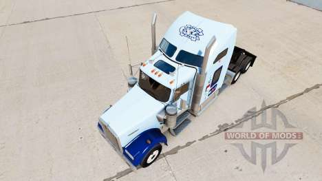 La peau UNC Tarheel v1.01 sur le camion Kenworth pour American Truck Simulator