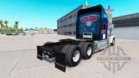 La peau Atlanta Hawks sur le camion Kenworth W90 pour American Truck Simulator