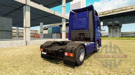Скин Dachser Karlsruhe v2.1 на Mercedes-Benz für Euro Truck Simulator 2