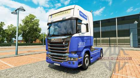 Le H. Veldhuizen BV de la peau pour Scania camio pour Euro Truck Simulator 2