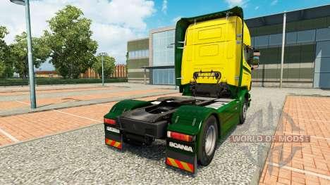 Die Ouro Verde Transportes skin für Scania-LKW für Euro Truck Simulator 2