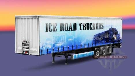 La peau Ice Road Truckers sur la remorque pour Euro Truck Simulator 2