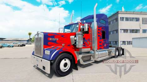 De la peau pour Optimus Prime camion Kenworth W9 pour American Truck Simulator