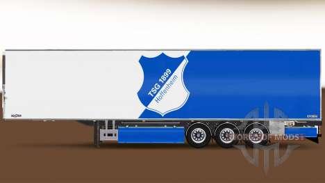 Semi-remorque Chereau, TSG 1899 Hoffenheim pour Euro Truck Simulator 2
