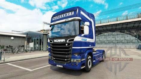 Mainfreight de la peau pour Scania camion pour Euro Truck Simulator 2