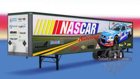 La peau sur la NASCAR est tout-métal remorque pour American Truck Simulator