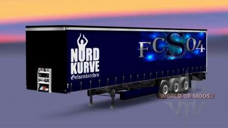 La peau FC Schalke 04 sur semi-remorque pour Euro Truck Simulator 2