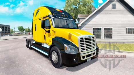 Скин Estes Express на Freightliner Cascadia pour American Truck Simulator