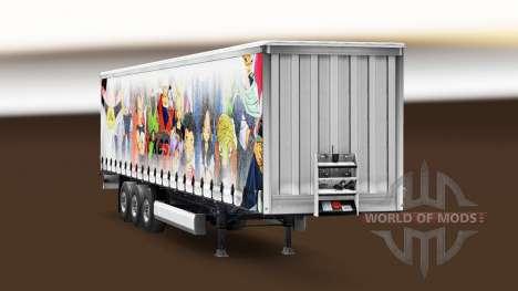 Haut Dragon Ball, die auf dem Anhänger für Euro Truck Simulator 2