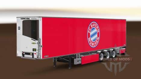 Semi-remorque Chereau FC Bayern Munchen pour Euro Truck Simulator 2