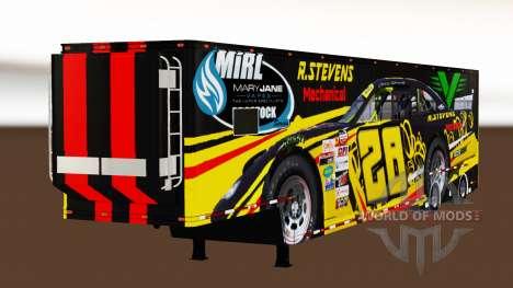 Remorque NASCAR v2.0 pour American Truck Simulator