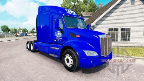 Haut JNJ Express Inc. die Zugmaschine Peterbilt für American Truck Simulator