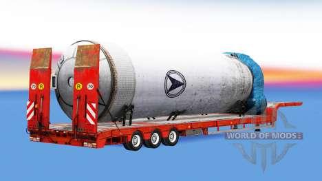 Bas de balayage de lourdes charges pour American Truck Simulator