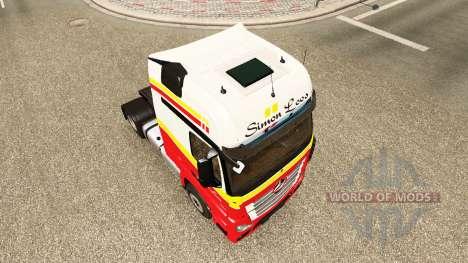 Simon Loos peau pour le camion Mercedes-Benz pour Euro Truck Simulator 2