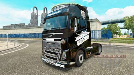 La peau de World of Tanks sur Volvo trucks pour Euro Truck Simulator 2