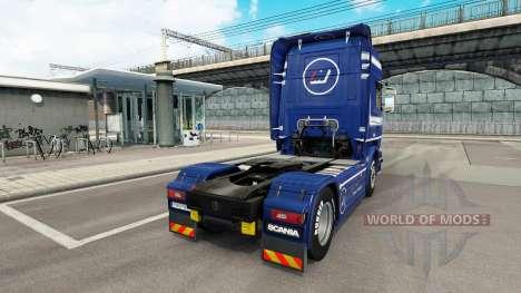 Mainfreight skin für Scania-LKW für Euro Truck Simulator 2
