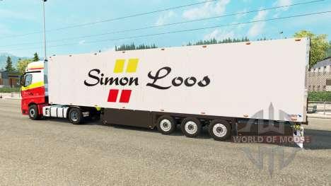 Semitrailer refrigerator Schmitz Simon Loos für Euro Truck Simulator 2
