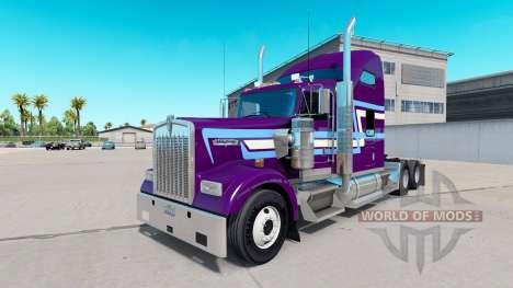 Haut Symbol Stil auf die LKW-Kenworth W900 für American Truck Simulator