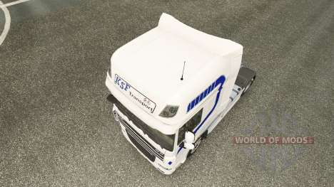 KSF Transport skin for DAF truck pour Euro Truck Simulator 2