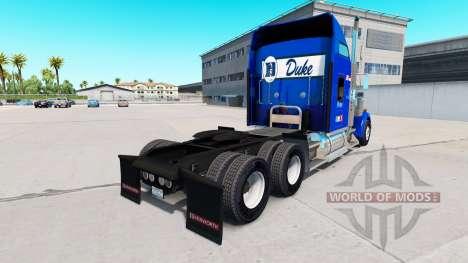 La peau Duc v1.03 sur le camion Kenworth W900 pour American Truck Simulator