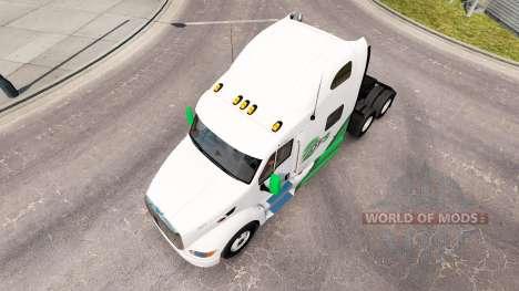 Skin DFS Danfreiht on tractor Peterbilt 387 pour American Truck Simulator