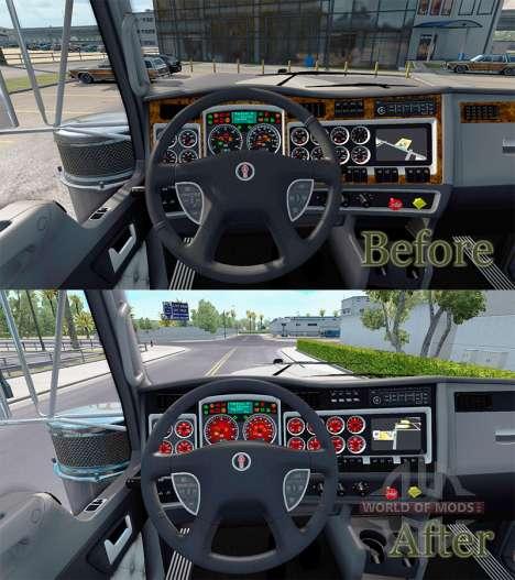 Rote Farbe Geräte haben einen Kenworth W900 für American Truck Simulator