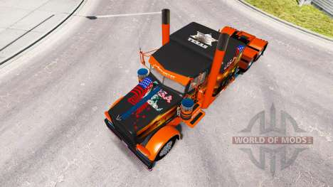 La peau USA Texas pour le camion Peterbilt 389 pour American Truck Simulator